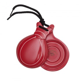 Professional Castanets Red Fiberglass Veined in White No. 5 with Double Sound Box 113,18 € - EN