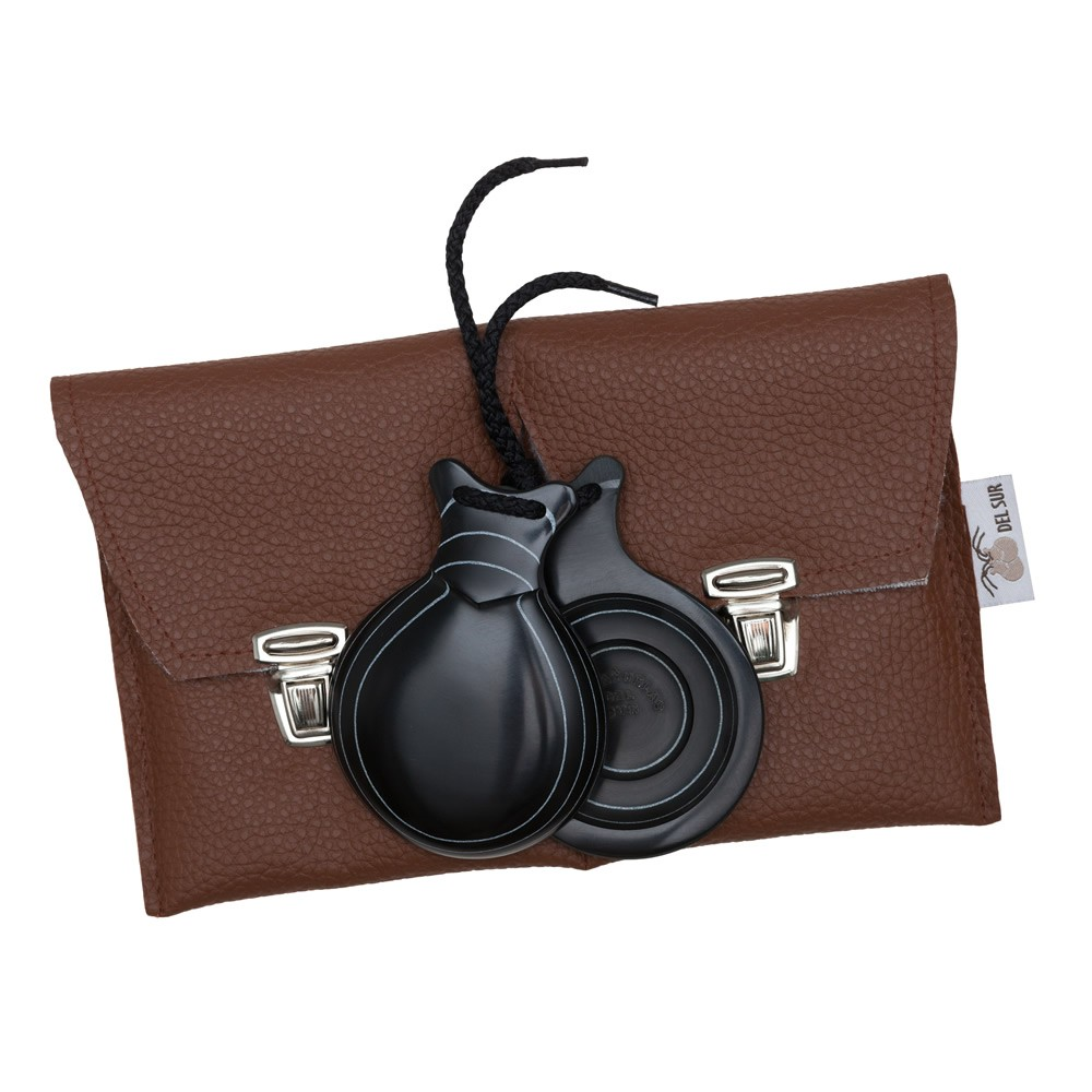 Professional Castanets Black Fiber Veined in White with Double Sound Box 95,00€ - EN